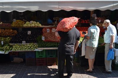 markt in Athene